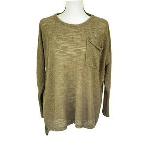 Loose Knit Slouchy Sweater Brown Size S